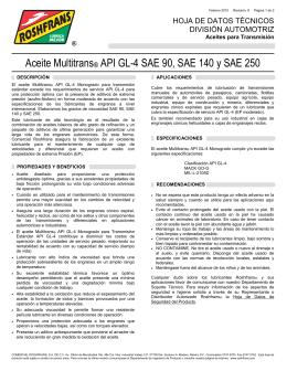 Aceite Multitrans® API GL-4 SAE 90, SAE 140 y SAE 250