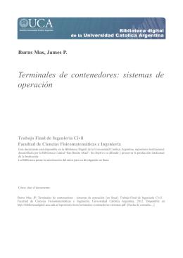 Terminales de contenedores : sistemas de operación