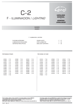 F - ILUMINACION / LIGHTING