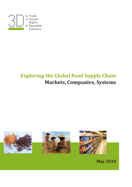 Exploring the Global Food Supply Chain Markets, Companies