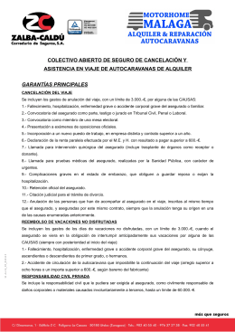 CUESTIONARIO DE SEGURO DE AUTOCARAVANA