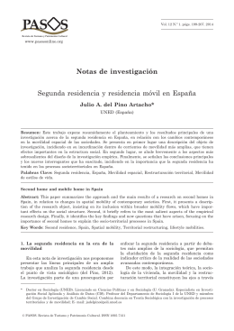 Notas de investigación Segunda residencia y residencia