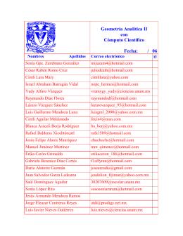 Listado de los alumnos