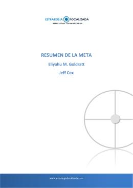 RESUMEN DE LA META - Estrategia Focalizada