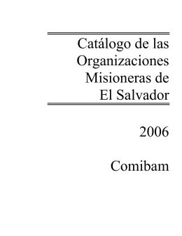 Catálogo de las Organizaciones Misioneras de El