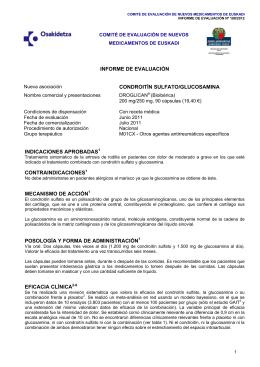 INFORME DE EVALUACIÓN CONDROITÍN SULFATO