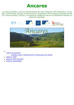 ¿Qué es LIFE-Ancares? - Junta de Castilla y León