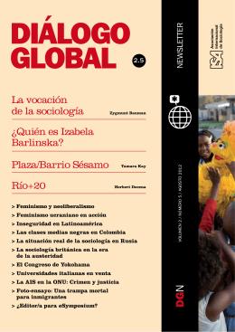 La vocación de la sociología Plaza/Barrio Sésamo Tamara Kay Río+