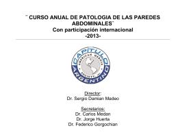 ¨CURSO ANUAL DE PATOLOGIA DE LAS PAREDES
