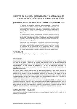 Sistema de acceso, catalogación y publicación de servicios OGC