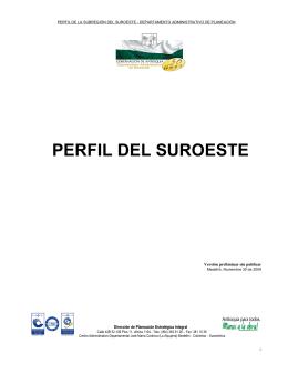 PERFIL DEL SUROESTE - Gobernación de Antioquia