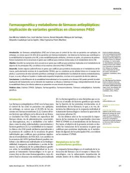 Farmacogenética y metabolismo de fármacos antiepilépticos