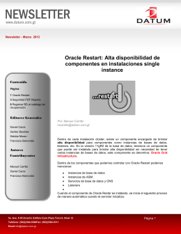 Oracle Restart: Alta disponibilidad de componentes en