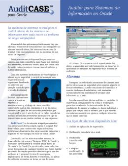 Auditor para Sistemas de Información en Oracle