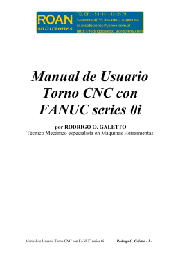 Manual de usuario torno cnc con fanuc series 0i por rodrigo