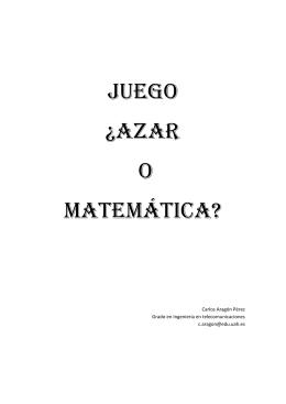 Juego ¿Azar O Matemática?