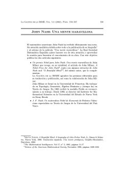 JOHN NASH: UNA MENTE MARAVILLOSA
