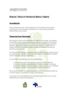 Estancia Clínica en Periodoncia Periodoncia Periodoncia