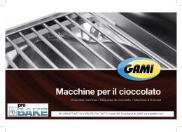 Macchine per il cioccolato