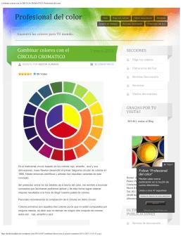 Combinar colores con el CIRCULO CROMATICO | Profesional del