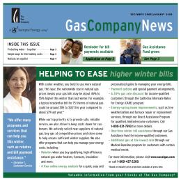 GasCompanyNews - Southern California Gas Company