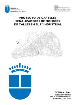 PROYECTO DE CARTELES SEÑALIZADORES DE NOMBRES DE