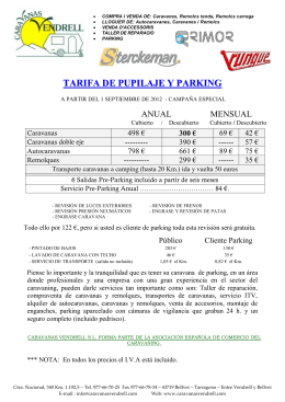 TARIFA DE PUPILAJE Y PARKING