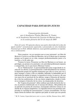 CAPACIDAD PARA ESTAR EN JUICIO