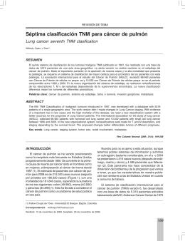 Séptima clasificación TNM para cáncer de pulmón