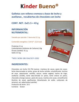 Kinder Bueno® - Espacio Meyalli
