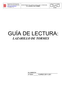 El Lazarillo - Institut Joan Ramon Benaprès