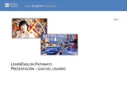 learnenglish pathways presentación – guía del