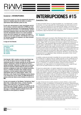 INTERRUPCIONES #15 - RWM