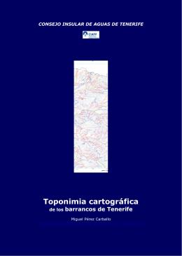 Toponimia cartográfica - Consejo Insular de Aguas de Tenerife