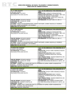Enero 2013 - Dirección General de Radio, Televisión y
