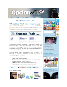 Utilidades TCP/IP online con network-tools