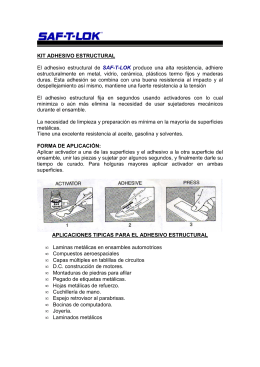 KIT ADHESIVO ESTRUCTURAL - Adhesivos Estructurales