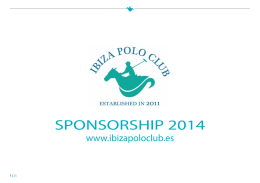 SPONSORSHIP 2014 - Ibiza Polo Club