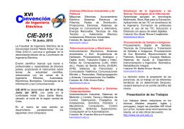 Español - XVI Convención de Ingeniería Eléctrica CIE 2015