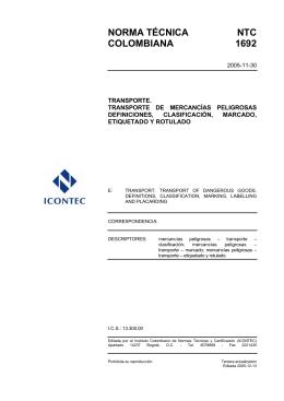 norma técnica ntc colombiana 1692