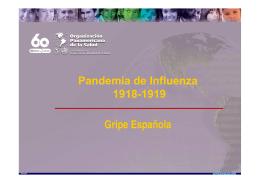 Pandemia de Influenza 1918-1919 1918