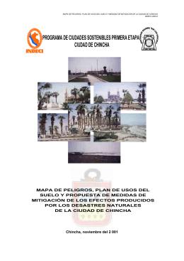programa de ciudades sostenibles primera etapa ciudad de chincha