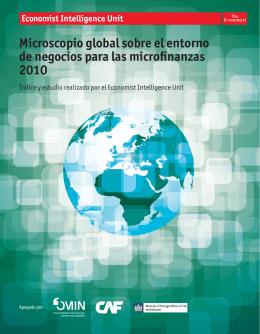 Microscopio global sobre el entorno de negocios para las