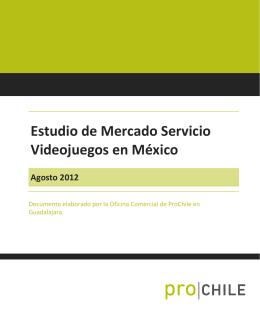 Estudio de Mercado Servicio Videojuegos en México