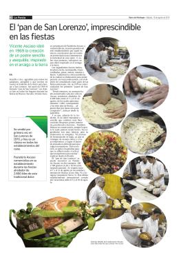 El `pan de San Lorenzo`, imprescindible en las fiestas