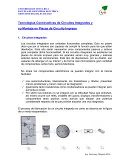Tecnologías Constructivas de Circuitos Integrados y su Montaje en