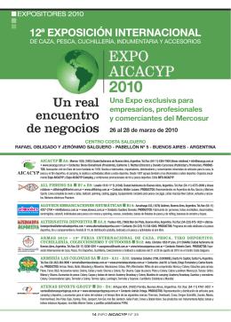 14-18 EXPOSITORES 2010