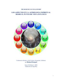 los aspectos en la astrologia espiritual desde el punto de vista estatico