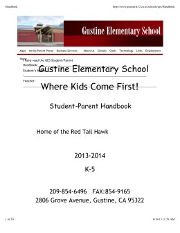 Where Kids Come First! - Gustine Unified School District
