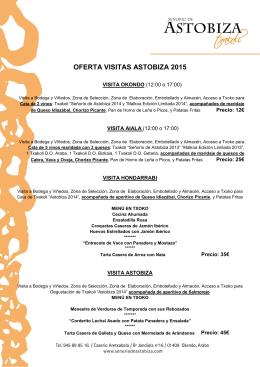 Menus 2015 - Señorío de Astobiza